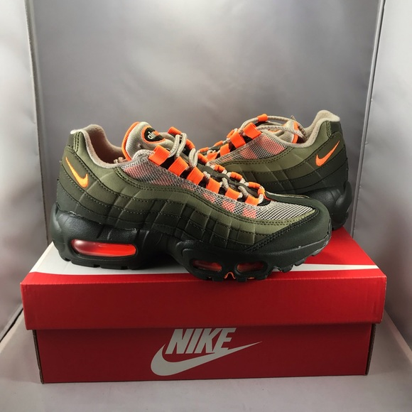 6ceaffc1af4 Nike Air Max 95 OG Neon Orange And Neutral Olive